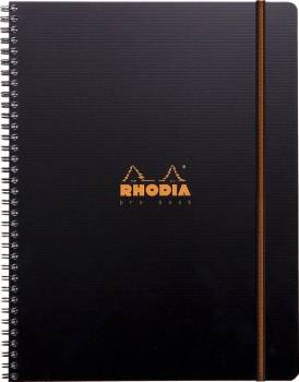 Rhodia A4+ Office Pro Book, 80 Blatt, Hardcover, Schwarz