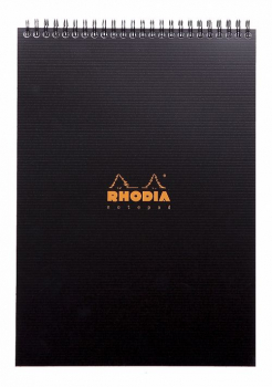 Rhodia A4+ Office Note Pad, 80 Blatt, Hardcover, Schwarz