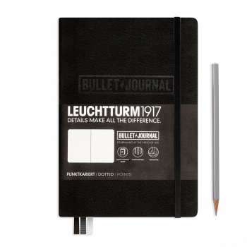 Bullet Journal Notizbuch Medium (A5) Hardcover, 240 num. Seiten, dotted